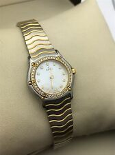 EBEL Classic Wave 18K Yellow Gold and Stainless Pearl Dial Women's Watch 1157114