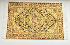Rich Gold Coloured Woven Rug, Doll House Miniatures, 1.12th Scale Home Decor