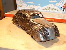 ANCIEN JOUET FRANCE JEP AUTO TOLE DELAHAYE 1935 MECANIQUE CLE A RESTAURER CIJ