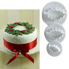 XMAS Styles Leaf Fondant Cake Cookies Icing Cutter Sugarcraft Tools Mould #T
