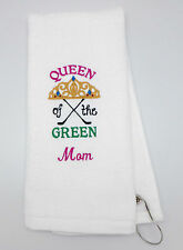 Personalized Embroidered Golf Towel * Queen of the Green *