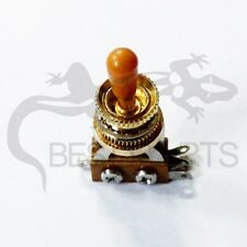 3way gold Toggle Switch Pickup Selector For Electric Guitar and deep nut/gibson