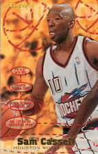CARD N°289 BASKET=SAM CASSELL (HOUSTON ROCKETS))=NBA 95/96 FLEER=CM 8,9X6,4