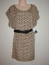 NWT City Triangle Belted Dress Fully Lined Tan/Black Size XL