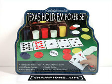 CARDINAL'S - PROFESSIONAL TEXAS HOLD 'EM POKER SET - TIN CONTAINER - SEALED NEW