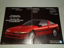 1990 PLYMOUTH LASER RS TURBO #2 ARTICLE / AD