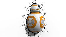 [Free shipping] Star Wars 3D Light FX BB8 Battery Kid Bedroom White Yellow Force