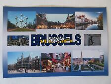 BRUSSELS - JUMBO FRIDGE MAGNET - Grand Place, Town Hall, St. Michael and St. Gud