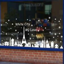 Christmas Snow Decoration Bedroom Wall Stickers Shop Window Home Decor Ornaments