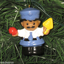 Fisher Price Little People Police/CROSSING GUARD Custom Christmas Tree Ornament