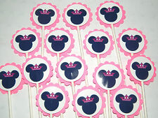 30 MINNIE MOUSE PRINCESS Cupcake Toppers Birthday Party Favors, Baby Shower  30