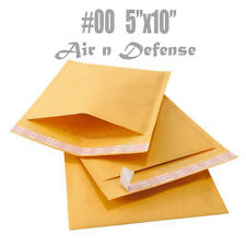 1000 #00 KRAFT BUBBLE PADDED ENVELOPES MAILERS BAG 5 x 10 SELF SEAL AirnDefense