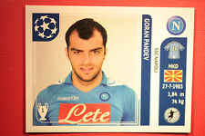 PANINI CHAMPIONS LEAGUE 2011/12 N 72 PANDEV NAPOLI WITH BLACK BACK MINT!!