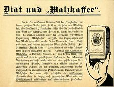 KATHREINER KNEIPP - MALZ - KAFFEE - Historische Reklame von 1907