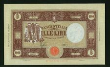 ITALY BANCA D'ITALIA  1943  1,000 LIRE BANKNOTE, ABOUT UNCIRCULATED, PICK-72a