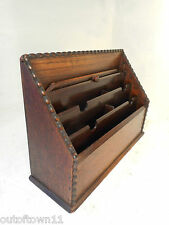 Vintage Oak  Desktop Letter Rack , Stationery Tidy     ref 2649