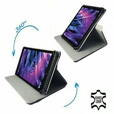Chuwi ebook-Tablet PC Custodia Protettiva Borsa-Vera Pelle Nero 10.1 pollici 360 °