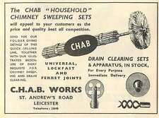 1953 Chab Chimney Sweeping Sets St Andrews Road Leicester Ad