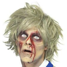 Halloween Fancy Dress Wig Zombie Wig Grey #25359 New by Smiffys