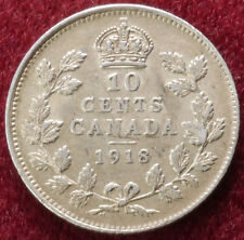 Canada 10 Cents 1918 (B1611)
