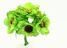 11X9cm Peony Flower Artificial Flower Bouquets Home Floral Decoration  Green