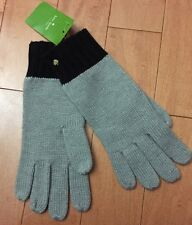 NWT Kate Spade Gloves Gray & Black Swirl Trim OS, $48.00