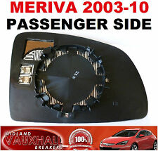 VAUXHALL MERIVA A ELECTRIC HEATED WING MIRROR GLASS PASSENGER NEAR SIDE BREEZE