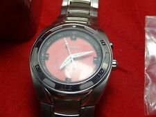 FOSSIL BIG TIC  MEN'S RED DIAL ( # AM-3784 ) ( NEW ) W/ TIN FOSSIL CAN ( RARE )