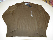 Mens Tommy Hilfiger long sleeve sweater shirt Pima M 7880578 Coconut Brown 265