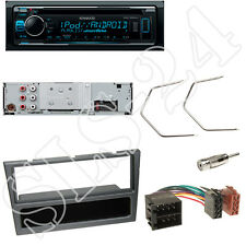Kenwood KDC300UV CD/USB Radio + Opel Meriva Combo Blende metallic + ISO Adapter