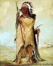 Ho-ra-to-a, A Crow Brave by George Catlin - 1832 - Historic Art Print