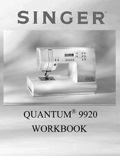 Singer 9920-WKBK Sewing Machine/Embroidery/Serger WORKBOOK