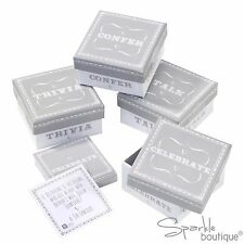 WEDDING TABLE TRIVIA -4 Boxes/120 Cards-Silver/White-Icebreaker/Table Decoration