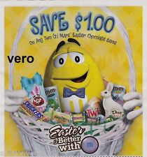 2014 magazine ad M&M's EASTER is better with mms M&M candy advert print yellow