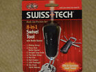 Swiss+Tech 8-in-1 Swivel Tool with Bottle Opener EDC LED Keychain tool