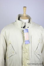 TIMBERLAND MENS JACKET COAT LARGE COUNTRYSIDE WEATHERGEAR QUILTED WARM CREAM ZIP