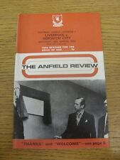 24/03/1973 Liverpool v Norwich City  (Light Fold, Team Changes). Condition: List