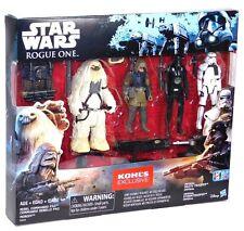 Star Wars Rogue One Battle Kohls 4 Figure Set Death Storm Trooper Moroff Pao!
