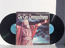 Cecil B DeMille's The TEN COMMANDMENTS Film SOUNDTRACK 2 LP SET PAS-1006 N. MINT