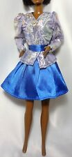 90s Fashion Dress Outfit Clothes for Barbie Doll Dress Jacket & Belt