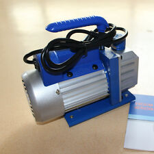 Single-Stage Rotary Vane Vacuum Pump 3 CFM 1/4HP HVAC Air tool R410a R134 US EK1