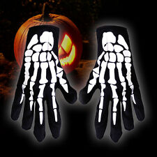 Unisex Party Costume Ghost Halloween Skeleton Bone Full Finger Gloves Accessory