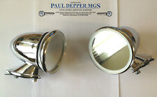 Jaguar E-Type/ MkII Classic Chrome Racing/ Bullet Wing Mirrors (pair) GAM105