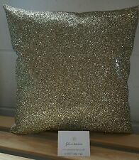 Grade 3 Gold Glitter Fabric Sparkly Cushion Cover