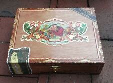 empty MY FATHER CIGAR BOX Flor De Las Antillas MAM/6x48 clean colorful Excellent