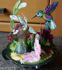 """3D  Pop Up Card by Santoro Graphics - Pirouette Cards -  """"Humming Birds"""""""