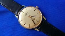 Allaine Vintage SWISS MADE Mens Gents Watch Gold Plated 17 Jewels, Leather Strap