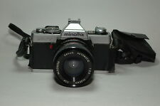 MINOLTA XG7 FILM CAMERA W/ SAKAR AUTOMATIC 28MM F2.8 LENS for parts or repair