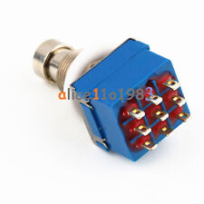 Imported 9-pin 3PDT Guitar Effects Pedal Box Stomp Foot Metal Switch True Bypass
