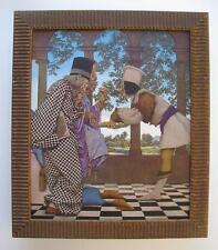 ORIG 1925 MAXFIELD PARRISH 91 YEAR OLD PRINT KNAVE of HEARTS FRAMED KING TARTS